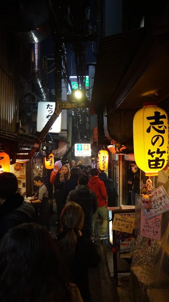 Stores line the side of the narrow path, but it adds to the rustic feel of the street