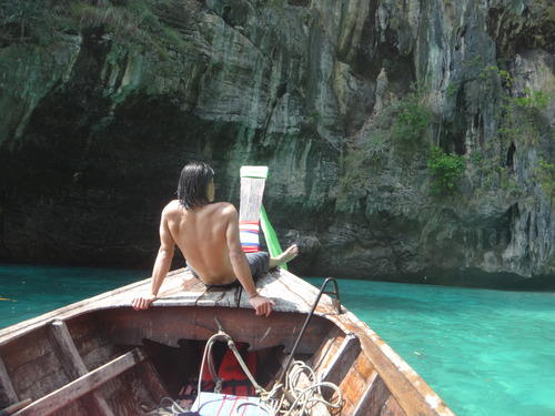 Krabi Thailand Boat ride to deep water solo - Lydiascapes Travel