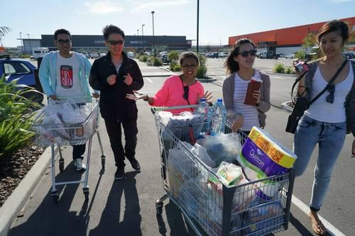 Grocery shopping in New Zealand road trip