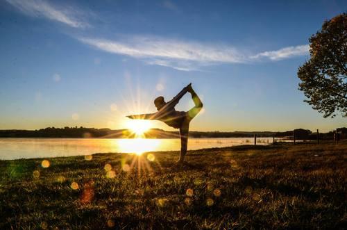 'Dancer Pose 'Sunrise Shot ( Photo Credits to F Z Joe)