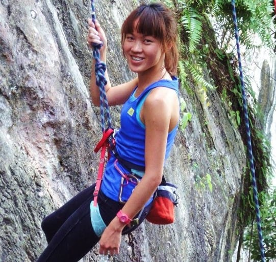 My very first natural rock climb, the youth and innocence still brinking from my face.