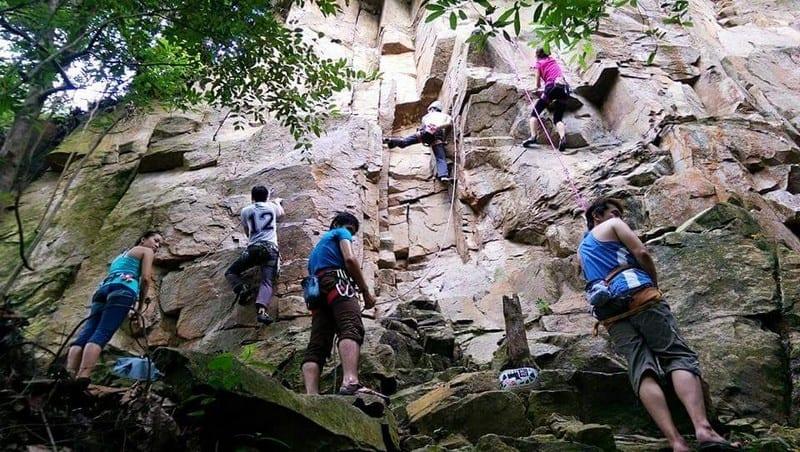 Outdoor Natural Rock Climbing at Dairyfarm Singapore