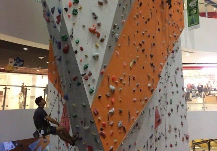 lead wall at climb central