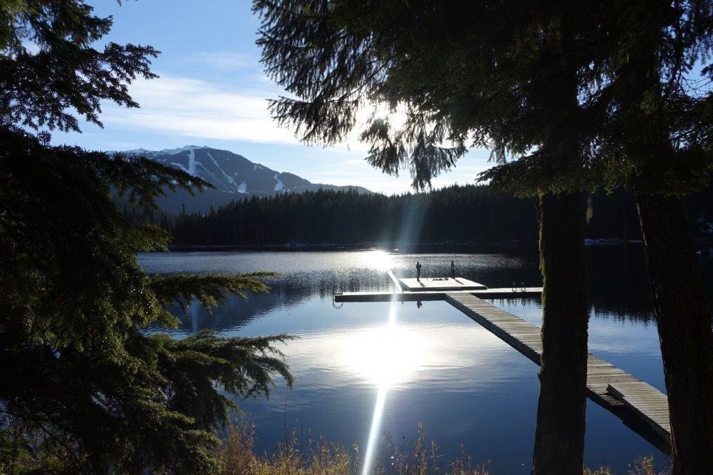 Beautiful boardwalk at Lost Lake. Popular spot for swimming in summer