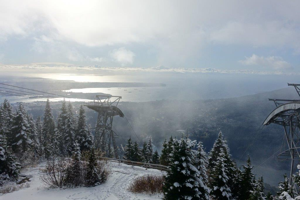 View from the lookout point at Grouse Mountain after your successful summit!