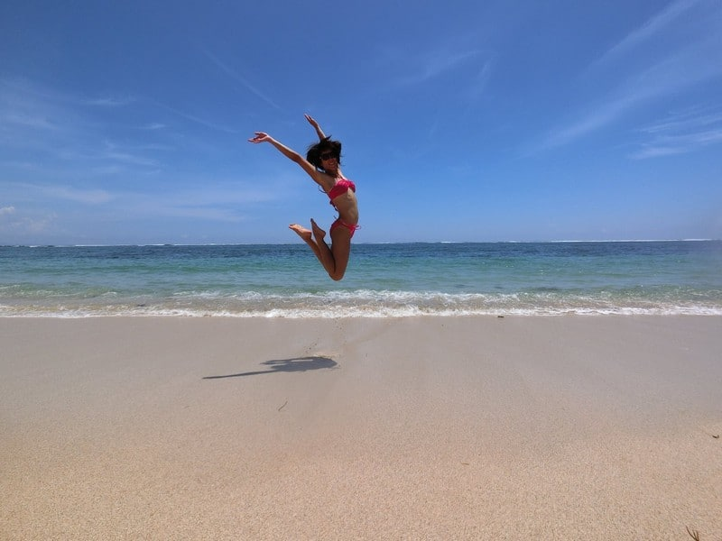 When you have the whole beach to yourself, it calls for a jumpshot