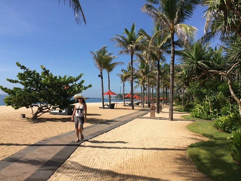 Beautiful stunning day by the beach in St Regis Resort Bali