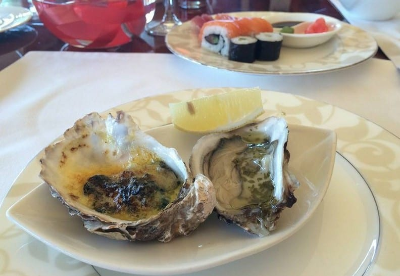 Oysters with cheese, olive oil and herbs for breakfast anyone?