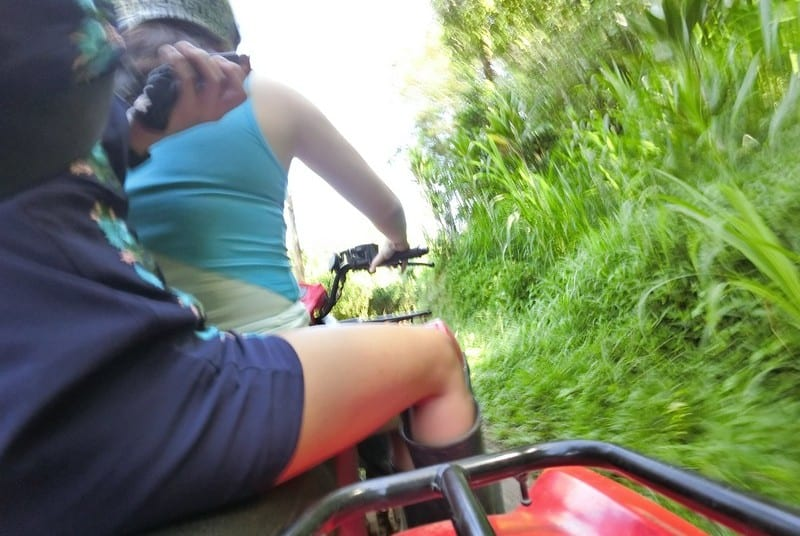 Adventure Challenge Number - Quad Biking through bumpy terrain and narrow paths and roads