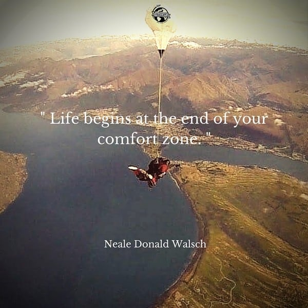 Lydiascapes Top 10 Favourite Travel and Vacation Quote #6 - Photo was taken while doing skydiving in New Zeland. Read about our New Zealand adventures here