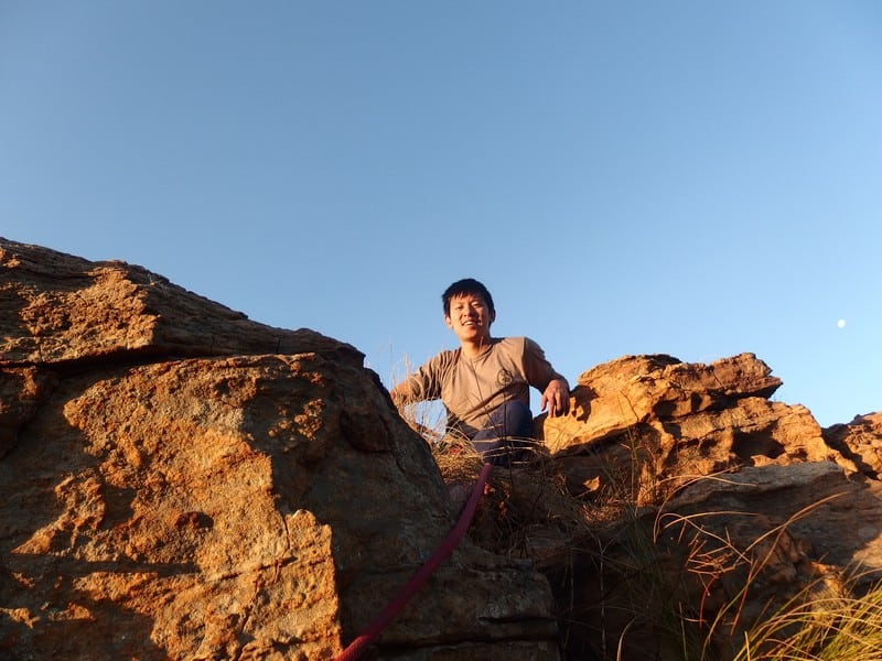 Rock climbing at The Bronkies in South Africa
