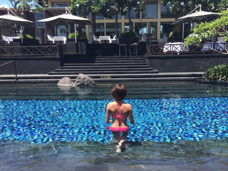 A refreshing afternoon dip in the st regis bali freshwater lagoon