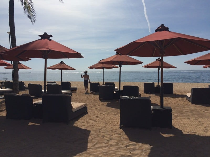 Bask in the sun on these beautiful chairs at St Regis Bali Resort at Nusa Dua
