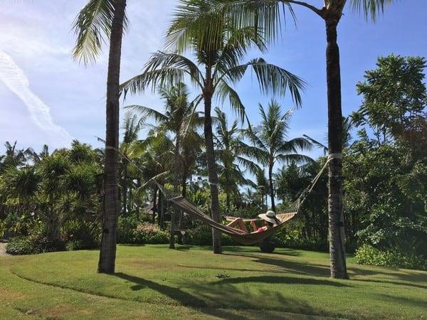 hammock and relaxing at St Regis Bali