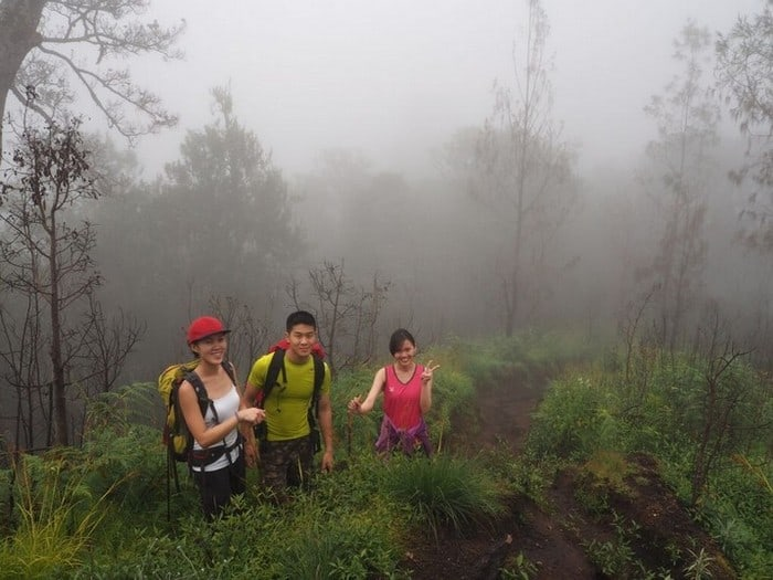 mount rinjani trek - 3 of us against the world at mount rinjani lombok