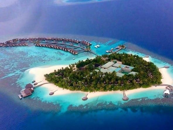 Seaplane view of W Maldives ( Photo credited to Chunky Matthew)