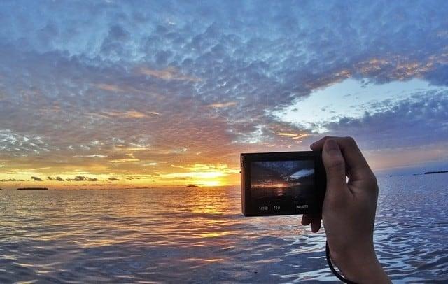 Sunsets and sea life at Maldives