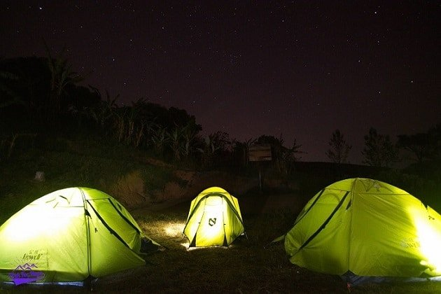 camping under the stars in the village at Philippines