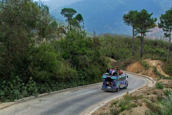 Trek for Hope - on our jeepney trotting down the mountain road - - trek for hope