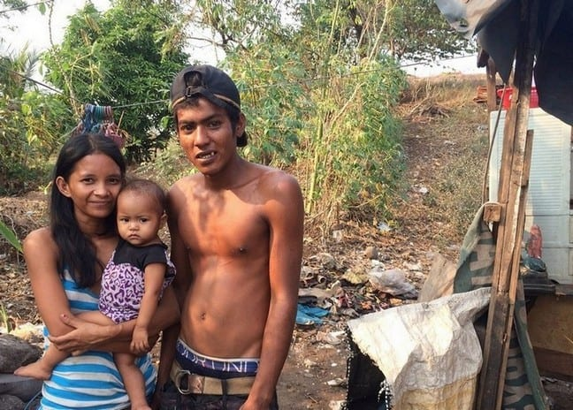 Young family not more than 25 staying in a shack