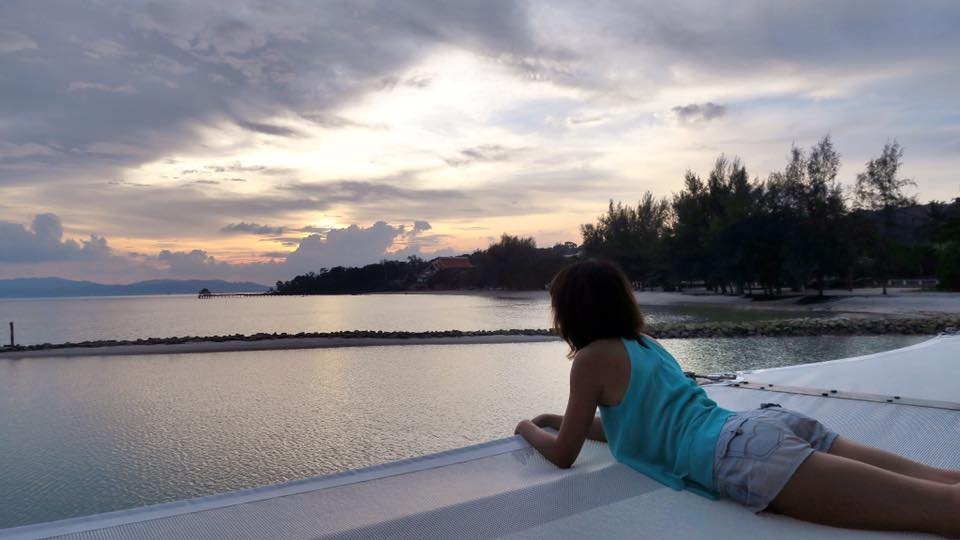 Can't stop getting enough of the beautiful sunset view on Langkawi island