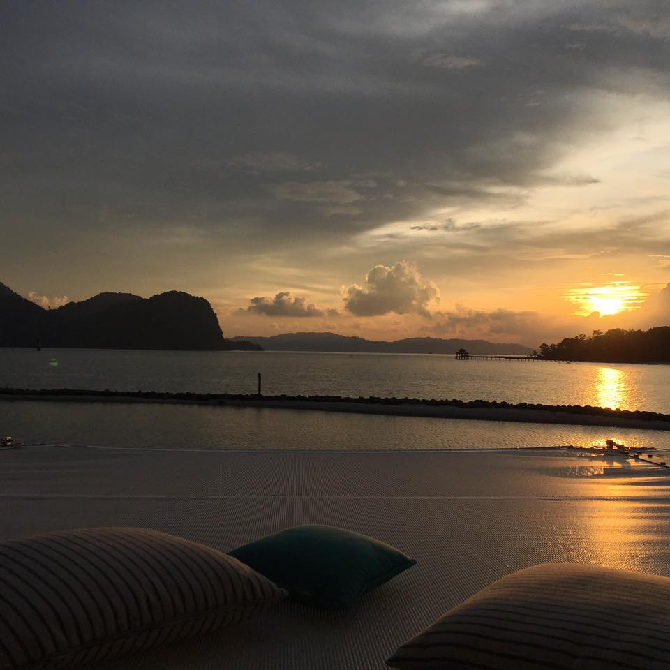 Beautiful sunset from Kayiputi, Really not to be missed activity in St Regis Langkawi Resort