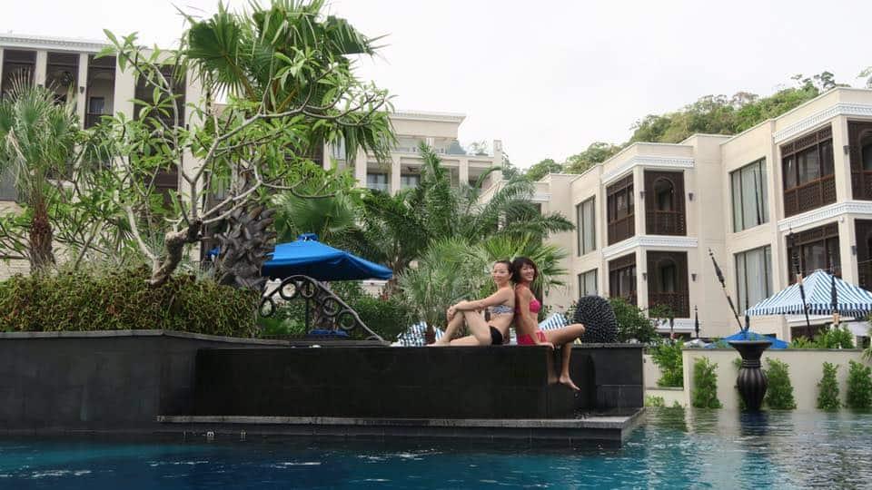 Beautiful pool at St Regis Langkawi Resort. Posing for photos throughout the day.