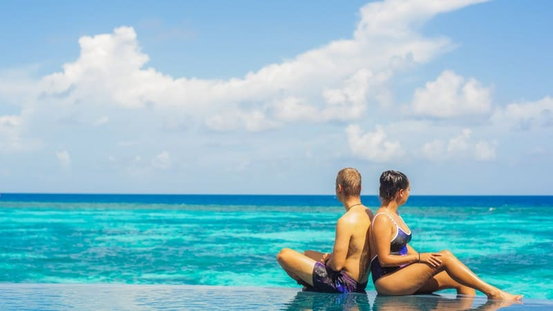 The fresh goodness of Maldives air, sun and sea