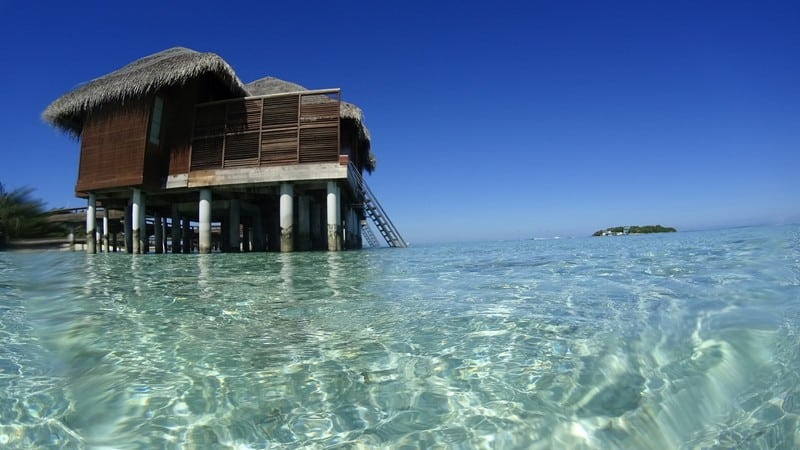 Crystal clear waters and fresh air in Maldives