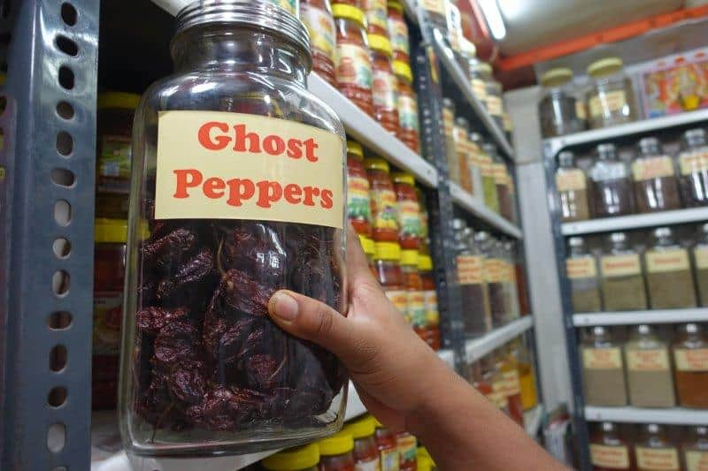 Hottest peppers in the world can be found in one of these old india markets in Mumbai - Ghost Peppers