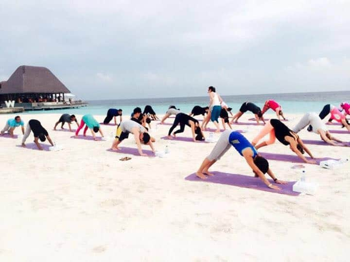 Yoga on our beautiful beaches