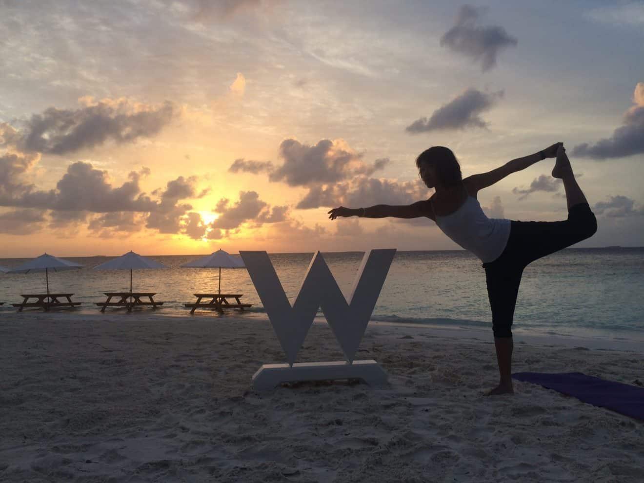 Sunrise Yoga at private island gaathafushi