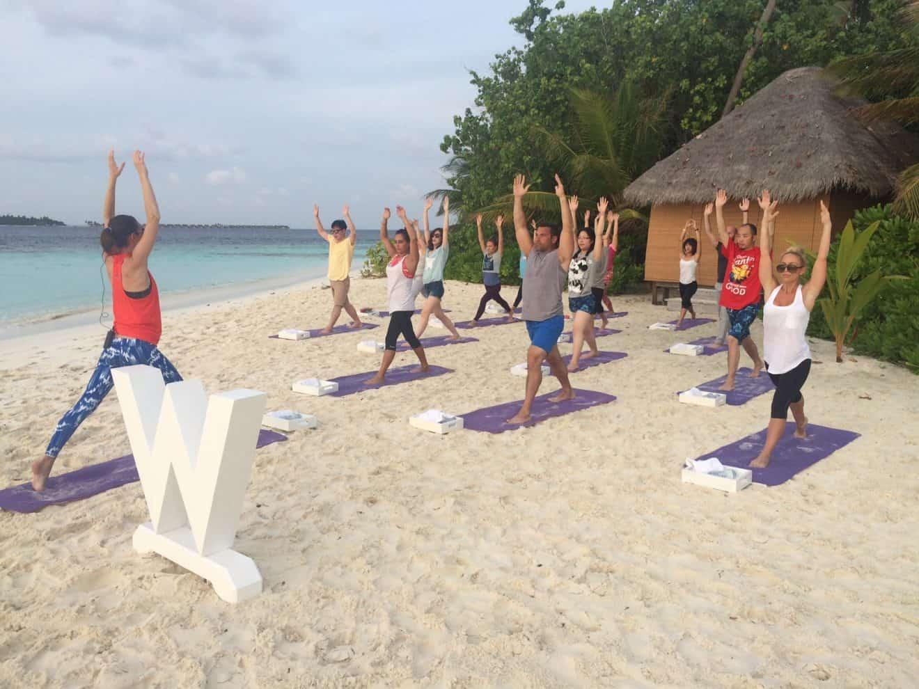 Yoga with Tara as we enjoy the morning sun and breeze