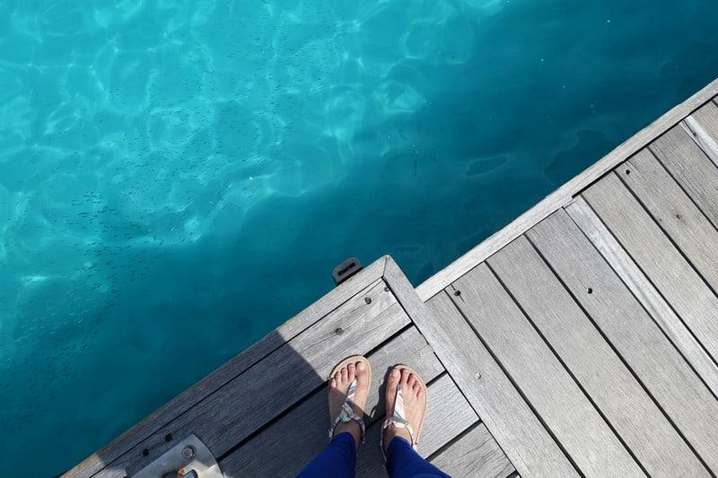 beautiful deep blue of the maldivian water