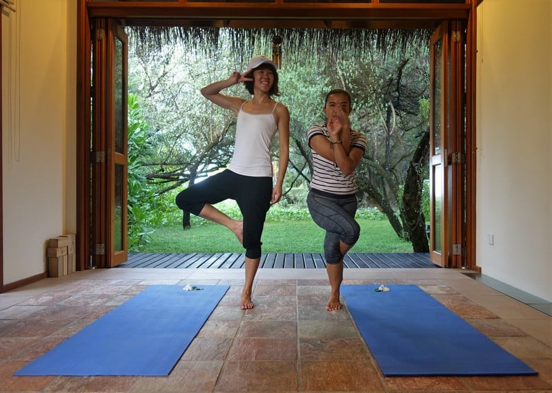 Yoga in your own sunset room - Taken at Shine Spa Maldives