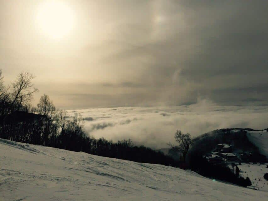 Above the clouds and taking deep breaths