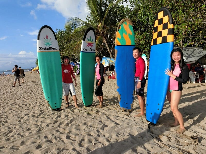 Surfing in Bali at Kuta Beach| Fun Water Activities to do in Bali