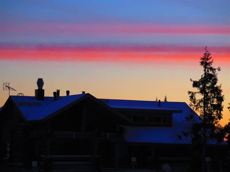 Sunset seen in Yllas