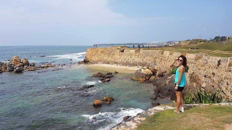 walking along the old fort of galle